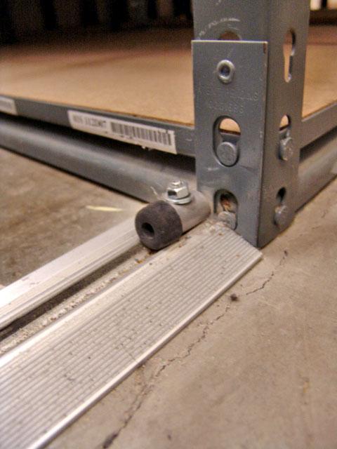 Mobile Aisle Industrial Shelving